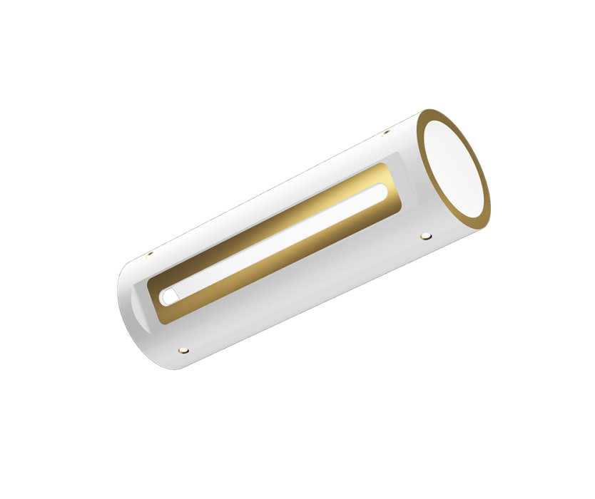 Multidirektional vergoldete Keramik /Multidirectional Printed Laser Tube (Gold plated Ceramic)