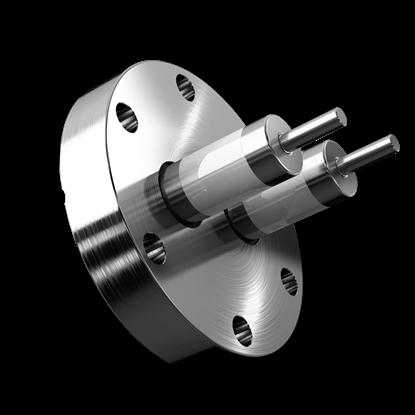 Vakuum-Stromdurchführung  2-fach CF-Flansch